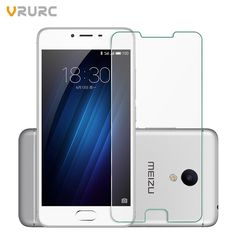 Vrurc Tempered Glass For Meizu Pro 6 Plus Screen Protector For Pro 6 Plus 9H Explosion Proof Protective film Glass for Meizu