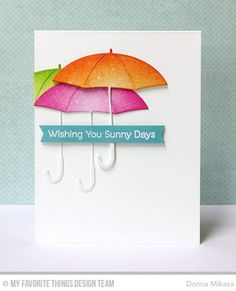 Layered Umbrellas Die-namics, Fall Friends Stamp Set - Donna Mikasa  #mftstamps