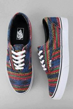 11a0a212f4 Tribal style Vans--super cute for a casual outfit to wear around campus