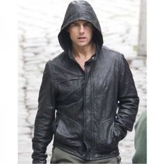 Get Tom Cruise Ghost Protocol jacket, buy online mission impossible 4 Ehtan Hunt leather jacket at discounted price with free shipment to USA, UK & Canada. Mission Impossible Ghost, Zalando Style, Cafe Racer Jacket, Designer Leather Jackets, Leather Jacket With Hood, Hunting Jackets, Men's Jackets, Tom Cruise, The Ordinary