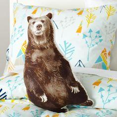 Bear Throw Pillow | The Land of Nod