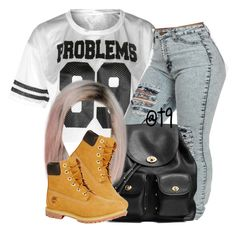 """""""."""" by trillest-queen ❤ liked on Polyvore featuring Coach, Timberland, women's clothing, women's fashion, women, female, woman, misses and juniors"""