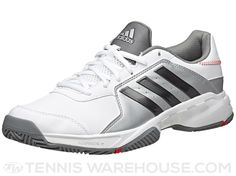 meet 2ef08 eab1f adidas Barricade Court Wide White Grey Men s Shoe   Tennis Warehouse  Deportes, Zapatos Deportivos