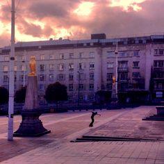 Millennium square. Leeds city centre.