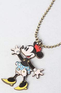 Disney Couture Jewelry The Disney Couture Jewelry X Dr. Romanelli Minnie Mouse Wood Necklace Brass tone chain necklace with wood Minnie Mouse pendant; By Disney Couture Disney Theme, Disney Fun, Disney Style, Disney Dresses, Disney Outfits, Disney Clothes, Disney Fashion, Disney Couture Jewelry, Disney Jewelry