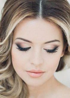 Amazing Wedding Makeup Tips – Makeup Design Ideas Fresh Wedding Makeup, Wedding Makeup For Brown Eyes, Natural Wedding Makeup, Wedding Hair And Makeup, Bridal Makeup, Natural Makeup, Bridal Hair, Hair Makeup, Eye Makeup