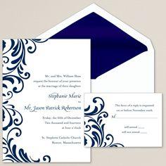 Ever After Wedding Invitation | #exclusivelyweddings | #bluewedding