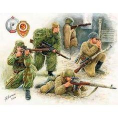 zvezda soviet sniper team wwii - Modeledo.pl