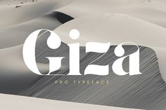David Berlow's Giza is a multilingual typeface to suit many applications, editorial, weddings, restaurants etc. Most suitable as a display font