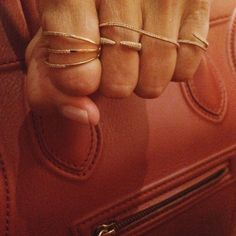 F R I D A Y much needed  #marthacalvo #diamonds #rings #gold #clawring #barring #pinkyring #celine