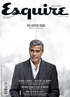 Esquire (Malaysia) and George. Magazine Cover Layout, Love Magazine, Magazine Layout Design, Fashion Magazine Cover, Magazine Covers, George Clooney, Tom Cruise, Brad Pitt, Editorial Layout