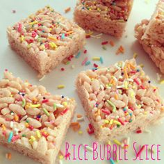 Rice Bubble Slice | Happy LIttle Kiwi