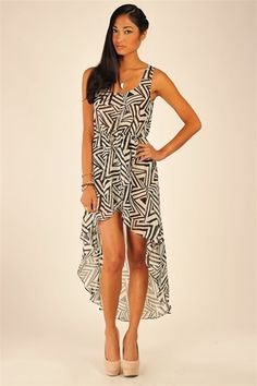 Labyrinth Dress - Black & White. Necessary Clothing $24.99