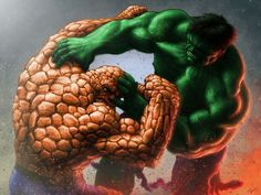 #Hulk #Fan #Art. (The Thing Vs Hulk) By: ~Ninni-V. ÅWESOMENESS!!!™ ÅÅÅ+