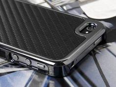 Carbon Fiber Chrome for Apple iPhone 4 4s 4g 4gs, Black