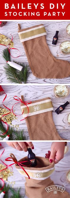 'Tis the season for crafts and cocktails! For a fun twist on traditional holiday parties, get your friends together for a DIY stocking party. Let the creativity flow through glitter, sequins, stocking stuffers, paint and more as you catch up over Baileys™ and hot coffee.