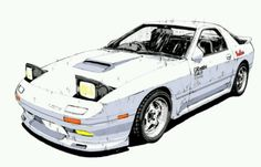Mazda rx7 FC Ryosuke Takahashi's Initial D