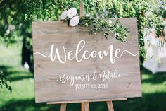 Wedding Welcome Sign DECAL, Rustic Wedding Welcome Sign, DECAL only, Wedding Welcome Sign, Diy Wedding Welcome Sign