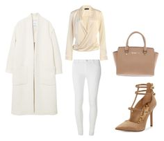 """""""The Power of Nude"""" by alma-cizmic ❤ liked on Polyvore featuring MANGO, Dorothy Perkins, Sam Edelman and Michael Kors"""