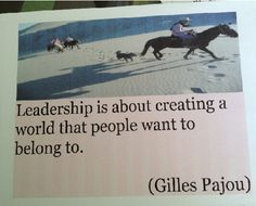 On leadership...