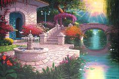 Oil on Canvas Fantasy Rooms, Fantasy Castle, Fantasy Places, Episode Interactive Backgrounds, Episode Backgrounds, Fantasy Concept Art, Fantasy Artwork, Fantasy Landscape, Landscape Art