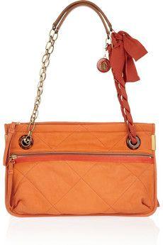 Lanvin Amalia Medium leather shoulder bag | NET-A-PORTER