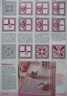 Artesanía, Manualidades, Labores - Distintos Puntos De Bordado Types Of Embroidery, Learn Embroidery, Hand Embroidery Stitches, Embroidery Techniques, Needlepoint Stitches, Cross Stitch Embroidery, Embroidery Patterns, Cross Stitch Patterns, Needlework