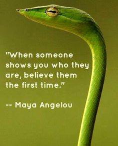 When someone...