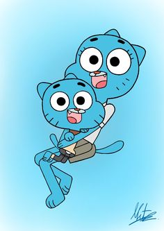 Nicole and Gumball from the Amazing World of Gumball. Requested by Nicole and Gumball Cartoon Posters, Cartoon Characters, Cartoons, Cartoon Wallpaper Iphone, Disney Wallpaper, Amazing Gumball, Family Theme, Nickelodeon, I Love Mom
