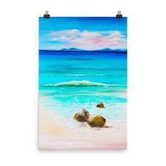 Washed Ashore • Art Print#wallart#walldecor#beach#coconut#tropical#painting#artist#artistoninstagram#homedecor#homedecorideas#gifts#giftideas#love#
