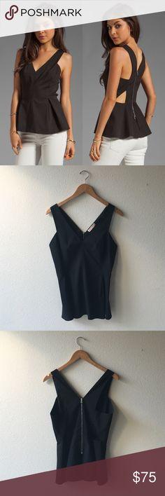 Rebecca Taylor Cutout Peplum Top Self: 60% cotton 35% poly 5% spandexLining: 100% poly. Peplum waist. Back zip closure. Size 6. Retail - $275. Rebecca Taylor Tops Blouses