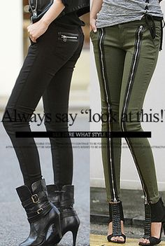 Today's Hot Pick :Low Rise Zippered Legs Pants http://fashionstylep.com/SFSELFAA0001499/happy745kren/out High quality Korean fashion direct from our design studio in South Korea! We offer competitive pricing and guaranteed quality products. If you have any questions about sizing feel free to contact us any time and we can provide detailed measurements.