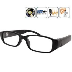 720P HD Eyewear Glasses Video Camera / High Defintion Full Digital Videokamera Kamera Photo Image Sound Voice Recording Store Shop Compact Professional Handheld Pokcet Latest Newest Gadget Trendy Black Gift Cheap Movie Videocam Cam Action Sport Invisible Security Surveillance Nanny Flip Flipcam Best Equipment Item Store Shop Accessories Tool Camcoder Portable Glasses Keychain Keyring Pen Clock Sunglasses Helmet Outdoor Pinhole Special Quality Live Good Microphone Mic Product Device Life ...