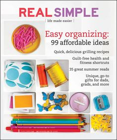 Module 5: Any Catalog Page Layout  I chose this layout because I felt like it was a little funny the way they created it.  Since the magazine is called real simple and the min article is about organizing but the photos are condensed very closely and the writing is crowded around the photos it seems much less organized than the magazine.