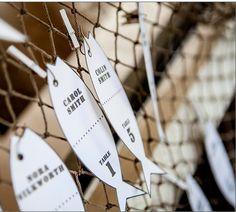 Fishing net escort display Fish hook seating cards