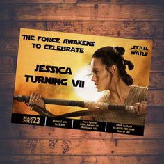 Star Wars Invitation The Force Awakens Birthday Party Theme