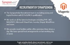 The SynapseIndia Recruitment team is recruiting young and logical freshers with B.Tech/MCA qualification. Get more info at: http://synapseindiarecruitment.weebly.com/blog/synapseindia-recruitment-golden-opportunity-for-freshers-to-start-career-in-magento-development