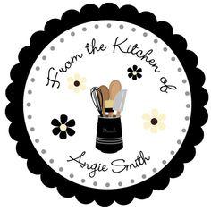 Cake Logo Design, Food Logo Design, Logo Sticker, Sticker Design, Kitchen Logo, Kitchen Labels, Kitchen Stickers, Dessert Logo, Business Labels