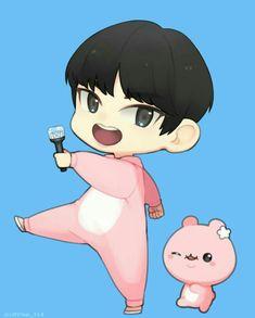 Monsta X Minhyuk, Lee Minhyuk, K Pop, Puppy Day, Cute Chibi, Kpop Fanart, Cute Cartoon Wallpapers, Anime Chibi, Cartoon Drawings