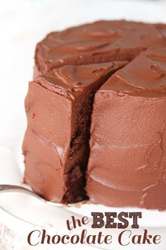 Old-Fashioned Chocolate Frosting. This is THE BEST chocolate frosting ever Best Chocolate Cake, Chocolate Frosting, Chocolate Recipes, Delicious Chocolate, Chocolate Chips, Chocolate Cake From Scratch, Craving Chocolate, Homemade Chocolate, Just Desserts