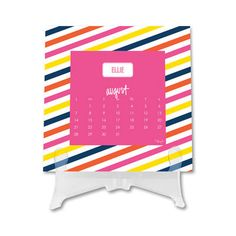 Stylish Pattern Desk Top Calendar