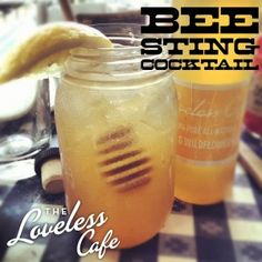 Bee Sting Moonshine Cocktail.  1 tablespoon honey ½ lemon, squeezed 1.5 ounces moonshine Muddle or shake vigorously with ice Add ½ cup iced tea (sweetened or otherwise) Strain over ice and enjoy