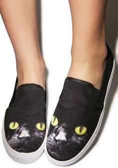 Y.R.U. Chill Kitty Slip-On Sneaker | Dolls Kill