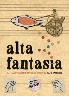 Dani Sanchis - Alta Fantasia, an illustrated postcard #book (Slaughterhouse Editorial) #collage / http://www.danisanchis.es / http://tardamucho.blogspot.fr