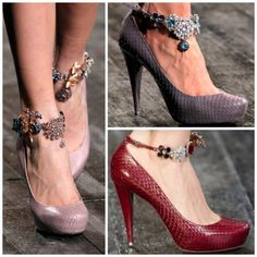 Totally diy-able: embellished ankle strap heels Bling Shoes, Bling Bling, Shoe Refashion, Ankle Jewelry, Ankle Bracelets, Embellished Shoes, Ankle Strap Shoes, Strap Heels, Beautiful Shoes