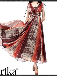 diaphanous boho maxi dress