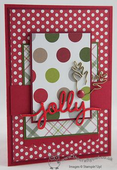 The Crafty Owl | The daily blog of Joanne James <br />Independent Stampin' Up! Demonstrator -- <a href=mailto:joanne@thecraftyowl.co.uk>joanne@thecraftyowl.co.uk</a> - SU - Christmas