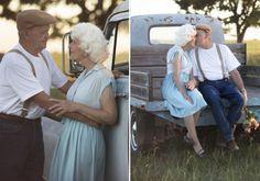 Que amor! Casal de avós faz ensaio inspirado em