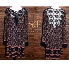 I just discovered this while shopping on Poshmark: FREE PEOPLE Mini Dress Patterned Bohemian ClassicNWT. Check it out!  Size: M