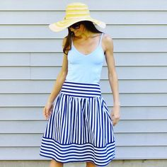 High Seas Skirt by Maeve Mom Outfits, Chic Outfits, Pretty Outfits, Passion For Fashion, Love Fashion, Womens Fashion, Cool Style, My Style, Stripe Skirt